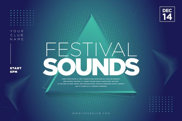 Festival muzieksjabloon