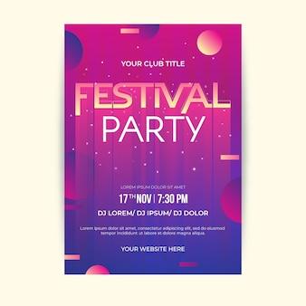Festival ontwerpsjabloon folder