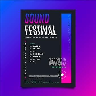 Festival poster ontwerpsjabloon