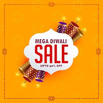 Festival verkoop achtergrond met diwali crackers