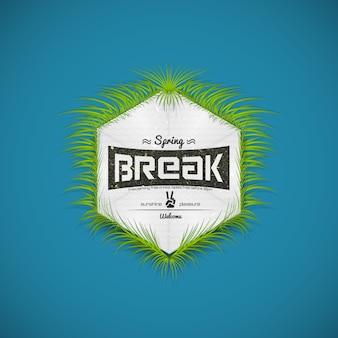 Festival voorjaarsvakantie realistische badge, kan worden gebruikt voor flyers en presentaties
