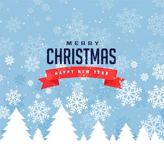 Festivalgroet voor vrolijke kerst en wintertijd