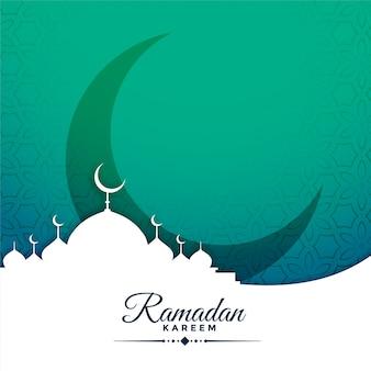 Festivalkaart voor ramadan kareemseizoen