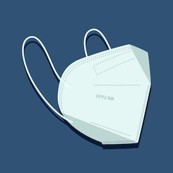 Ffp2-gezichtsmasker in plat ontwerp