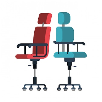 Fice stoelen op wit