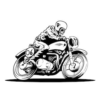 Fiets een devilmotorfiets