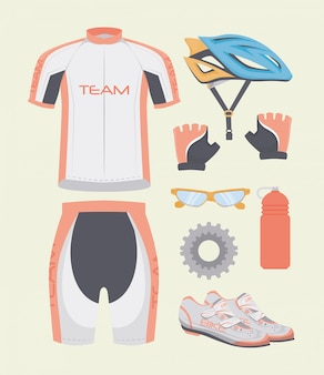 Fiets en cyclisme grafisch ontwerp