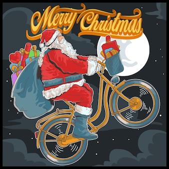 Fiets fietsen santa