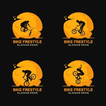 Fiets freestyle logo vector