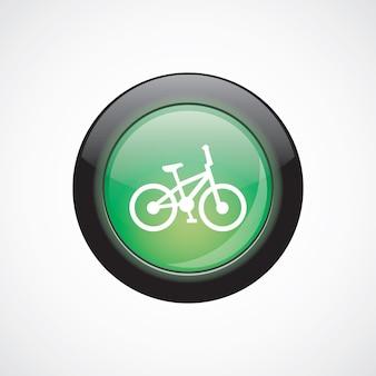 Fiets glas teken pictogram groene glanzende knop. ui website knop