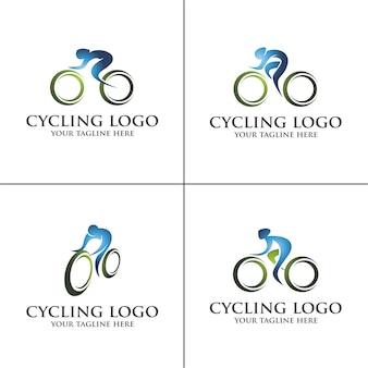 Fiets logo set