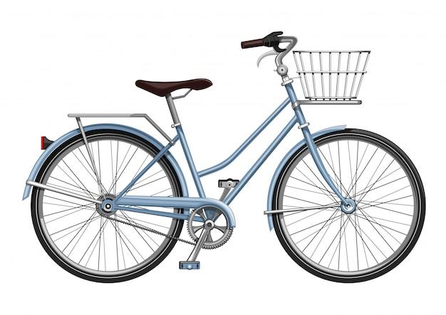 Fiets met bagage. fiets met een laars in de vorm van manden. fiets.