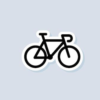 Fiets sticker, logo, icoon. vector. wielersport. fiets teken. vector op geïsoleerde achtergrond. eps 10