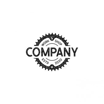 Fietsclub, fietsenwinkel, versnellingslogo