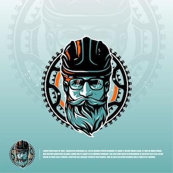 Fietsclub illustratie logo premium