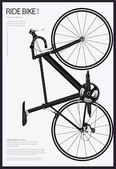 Fietsen poster vectorillustratie