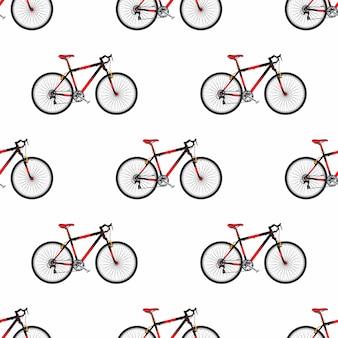 Fietspatroon in vlakke stijl sportfiets