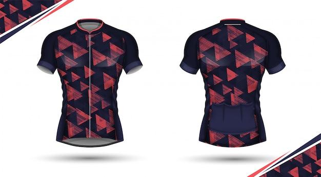 Fietsshirt, voor- en achterkant