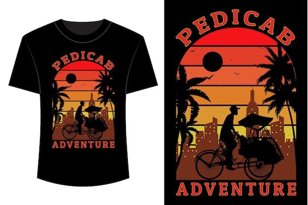 Fietstaxi avontuur t-shirt ontwerp