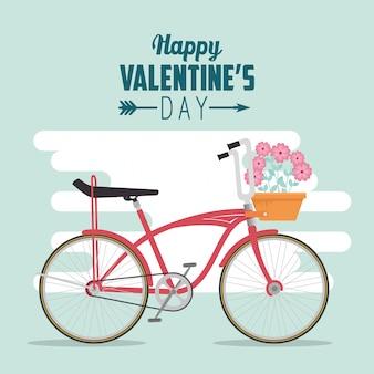 Fietsvervoer om valentijnsdag te vieren