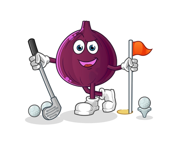 Fig. golf spelen geïsoleerd op wit
