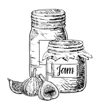 Fig jam tekening.