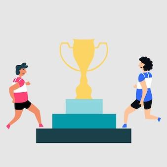 Fight award cup competitiesport voetstuk