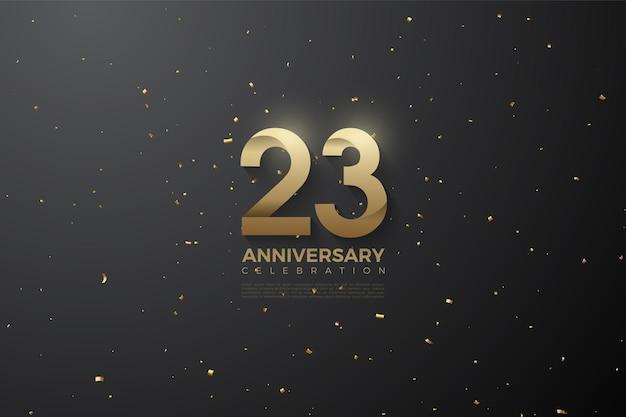 Figuren met patroon voor het vieren van 23-jarig jubileum
