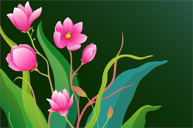 Fijn ingewikkeld rozen- of magnolia-bloemenarrangement