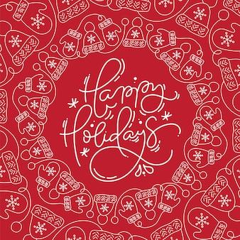 Fijne feestdagen belettering vector