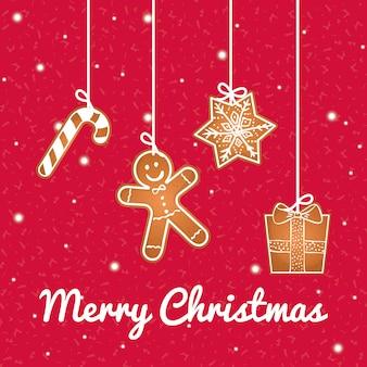 Fijne feestdagen en vrolijk kerstkaartontwerp