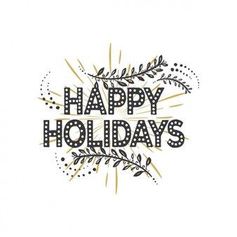 Fijne feestdagen met zwarte en gouden achtergrond