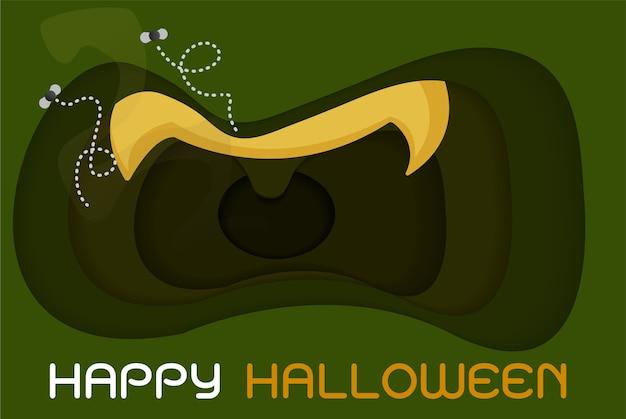 Fijne halloween-feest Premium Vector