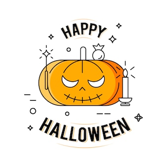 Fijne halloween. illustratie op de witte achtergrond