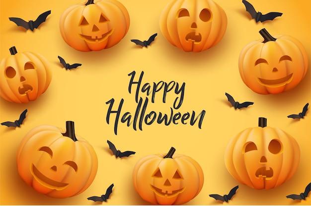 Fijne halloween lachende pompoen