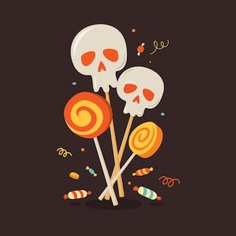 Fijne halloween. symbool van halloween.