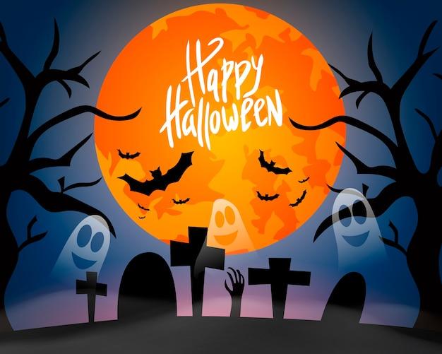 Fijne halloween. viering. allerheiligen. geesten. angstig. een feestje.