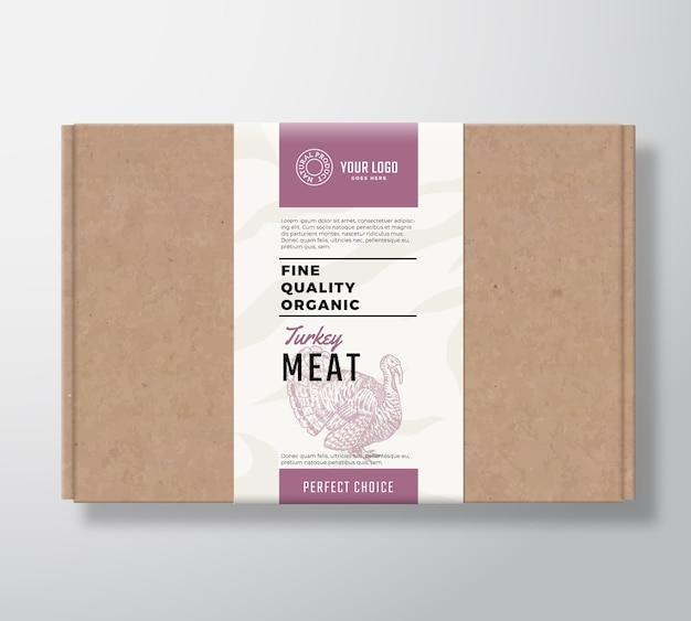 Fijne kwaliteit biologische gevogelte ambachtelijke kartonnen doos.