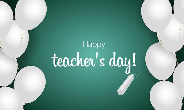 Fijne lerarendag de beste leraar ter wereld vectorconceptbanner voor wereldlerarendag