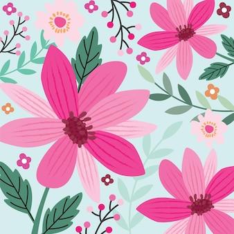 Fijne moederdag met bloemenachtergrond