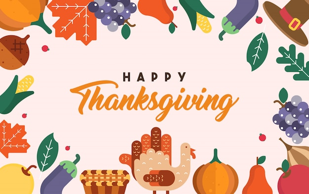 Fijne thanksgiving-dag