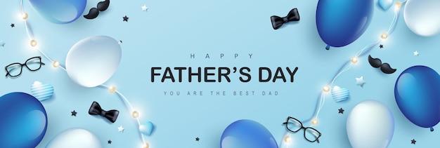 Fijne vaderdagkaart met feestelijke decoratie