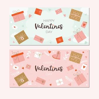 Fijne valentijnsdag. banner sjablonen