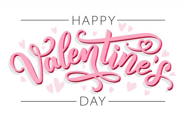 Fijne valentijnsdag. belettering