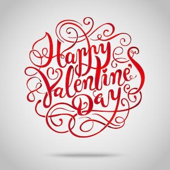 Fijne valentijnsdag. hand getekend vintage belettering achtergrond.