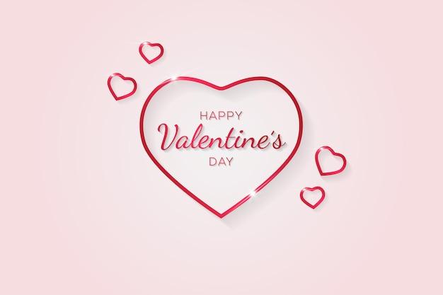 Fijne valentijnsdag met minimalistische stijl