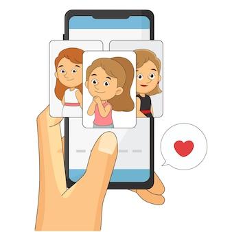 Fijne valentijnsdag, online dating-app. liefdesites, sociale applicatie voor telefoonrelaties