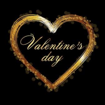 Fijne valentijnsdag. vakantie illustratie van glanzend hart pad geïsoleerd.