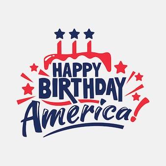 Fijne verjaardag amerika! onafhankelijkheidsdag