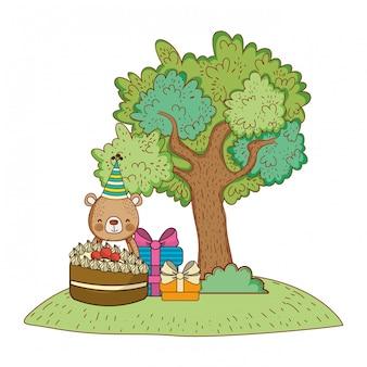Fijne verjaardag, schattig dier